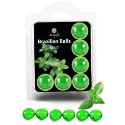 Set 6 Brazilian Balls Menta
